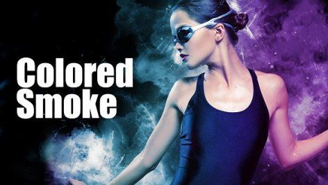 دانلود اکشن زیبای فتوشاپ بنام  :  Color Smoke