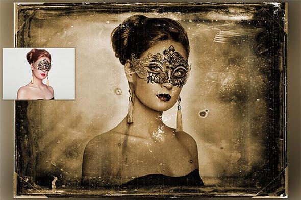 دانلود اکشن زیبای فتوشاپ  AGED ANTIQUE PHOTOSHOP ACTION