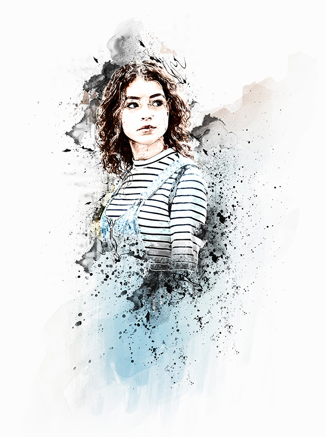 دانلود اکشن فتوشاپ : افکت عکس جوهری Ink Manipulation Photoshop Action