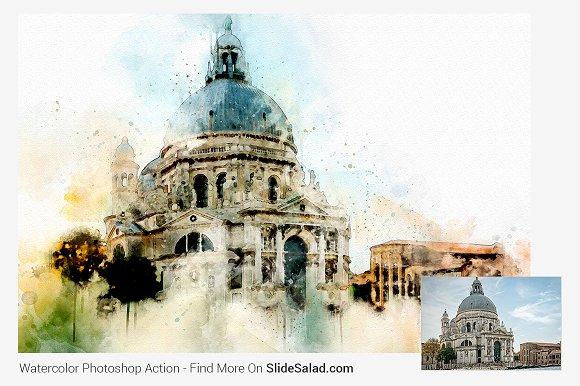 دانلود اکشن زیبا و حرفه ای فتوشاپ : Advance Watercolor
