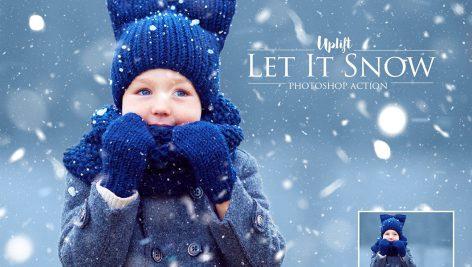 دانلود اکشن فتوشاپ Amazing 15 Snow Photoshop Action