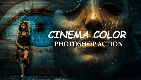 دانلود اکشن فتوشاپ : Cinema Color Photo shop Action