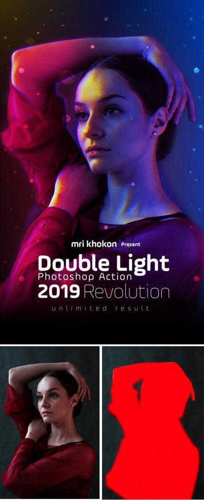 دانلود اکشن فتوشاپ  Double Light Photoshop Action