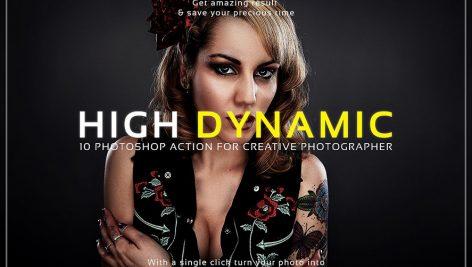دانلود اکشن فتوشاپ : High Dynamic Photoshop Action