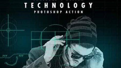 دانلود اکشن فتوشاپ : Technology Serie Photoshop Actions