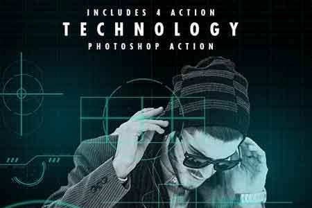دانلود اکشن فتوشاپ Technology Serie Photoshop Actions