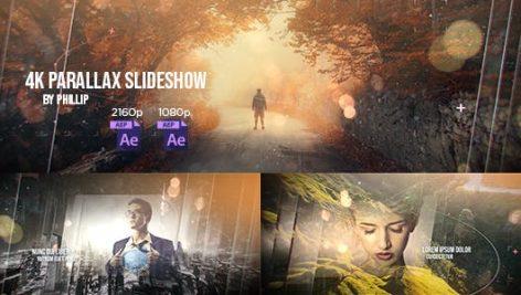 دانلود پروژه آماده افترافکت اسلایدشو 4K Parallax Slideshow
