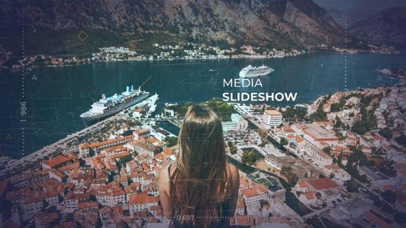 دانلود پروژه آماده افترافکت  اسلایدشو Media Slideshow