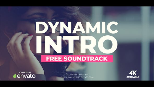 دانلود پروژه آماده افترافکت تیتراژ حرفه ای Dynamic Intro