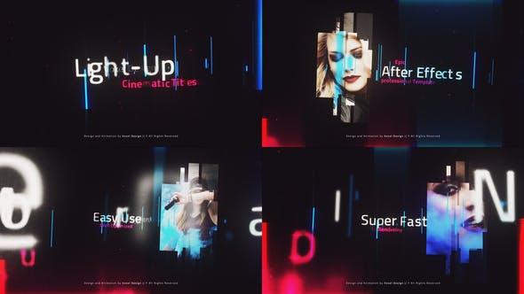 دانلود پروژه آماده افترافکت تیتراژ حرفه ای LightUP - Cinematic Titles