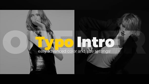 دانلود پروژه آماده افترافکت تیتراژ فیلم Typo Intro Opener