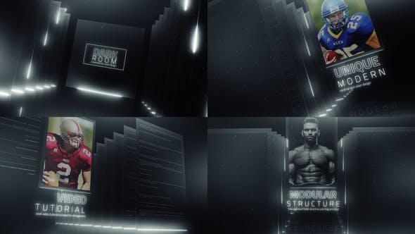 دانلود پروژه آماده افترافکت  تیتراژ Dark Room Sports Cinematic