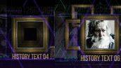 دانلود پروژه آماده افترافکت تیتراژ History in Frames