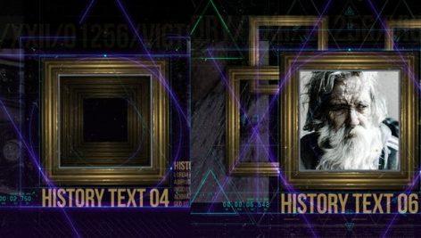 دانلود پروژه آماده افترافکت : تیتراژ History in Frames