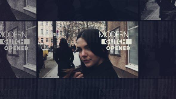 دانلود پروژه آماده افترافکت  تیتراژ Modern Glitch Opener