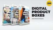دانلود پروژه آماده افترافکت معرفی محصولات Digital Product Boxes