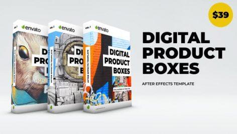 دانلود پروژه آماده افترافکت : معرفی محصولات Digital Product Boxes