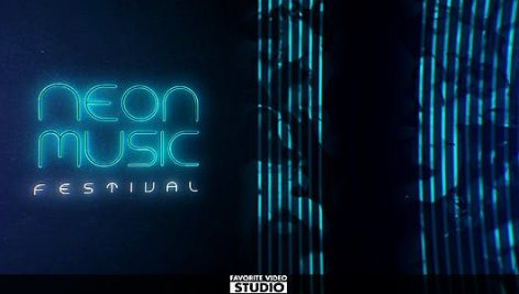 دانلود پروژه آماده افترافکت : معرفی گروه موزیک Neon Music Event
