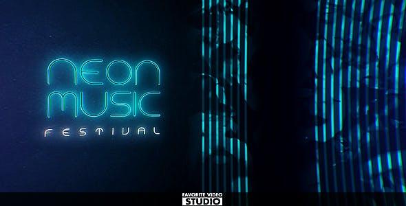 دانلود پروژه آماده افترافکت معرفی گروه موزیک Neon Music Event