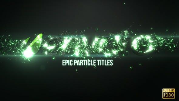 دانلود پروژه آماده افترافکت نمایش لوگو Epic Particle Titles