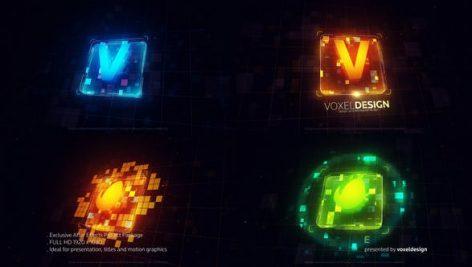 دانلود پروژه آماده افترافکت : نمایش لوگو Techno Block Logo
