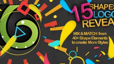 دانلود پروژه آماده افترافکت : ۱۵ وله لوگو Shapes Logo Reveal Pack