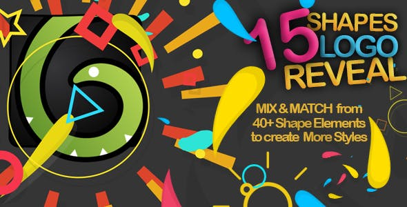 دانلود پروژه آماده افترافکت 15 وله لوگو Shapes Logo Reveal Pack
