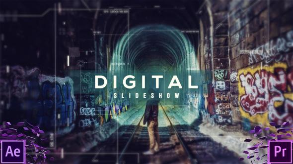 دانلود پروژه آماده پریمیر اسلایدشو Digital Slideshow