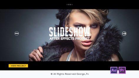 دانلود پروژه آماده پریمیر : اسلایدشو Glitch Slideshow