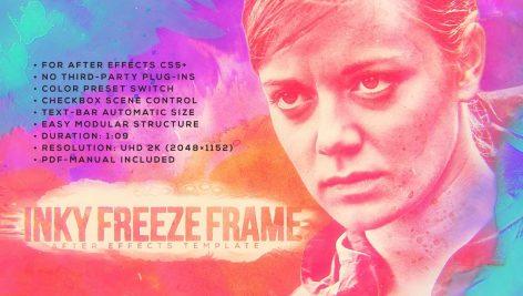 دانلود پروژه آماده پریمیر تیتراژ Ink Freeze Frame
