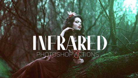 دانلود 12 اکشن فتوشاپ Infrared IR Photoshop Actions