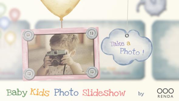 دانلود پروژه آماده افترافکت : آلبوم عکس کودک Baby Kids Photo Slideshow