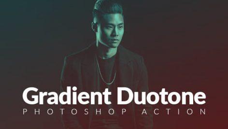 دانلود ۵۰ اکشن فتوشاپ بنام  Gradient Duotone Effects Photoshop Action