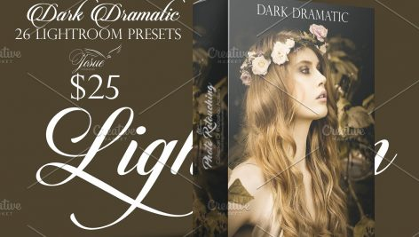 دانلود مجموعه پریست لایت روم بنام  DARK DRAMATIC LIGHTROOM PRESETS