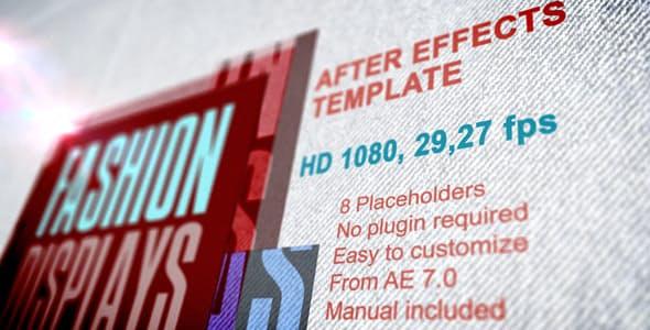 دانلود پروژه آماده افترافکت اسلایدشو اسپرت Fashion Displays with Text Presentation