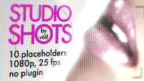 دانلود پروژه آماده افترافکت : تیتراژ آتلیه Studio Shots Promo Displays