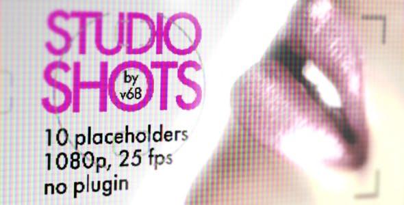 دانلود پروژه آماده افترافکت  تیتراژ آتلیه Studio Shots Promo Displays