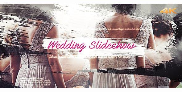 دانلود پروژه آماده افترافکت عروسی Wedding Brush Slideshow