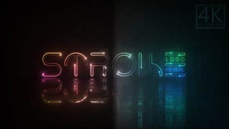 دانلود پروژه آماده افترافکت : نمایش لوگو Neon Stroke Logo