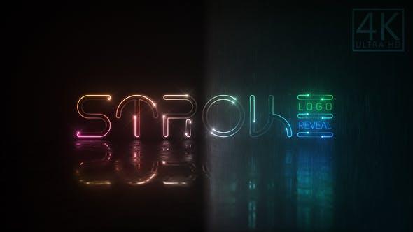دانلود پروژه آماده افترافکت  نمایش لوگو Neon Stroke Logo
