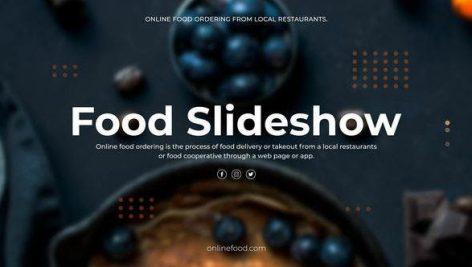 دانلود پروژه آماده پریمیر : اسلایدشو Food Slideshow