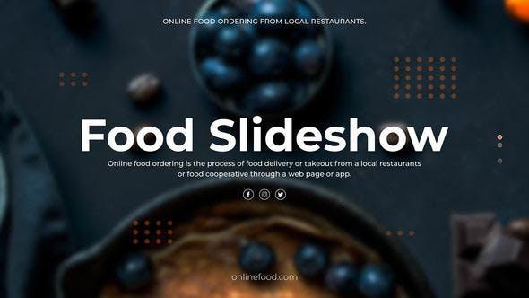 دانلود پروژه آماده پریمیر  اسلایدشو Food Slideshow
