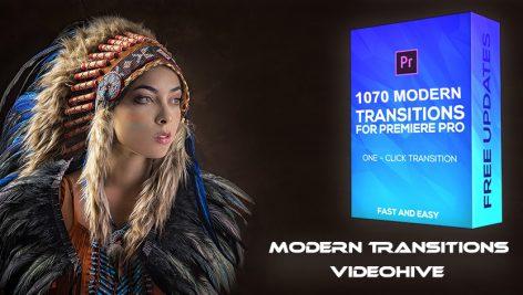 دانلود پکیج ۱۰۷۰ ترنزیشن حرفه ای پریمیر : Modern Transitions For Premiere PRO