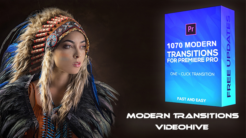 دانلود پکیج 1070 ترنزیشن حرفه ای پریمیر Modern Transitions For Premiere PRO