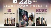 دانلود پکیج 225 پریست لایت روم Presetrain Lightroom Presets Bundle