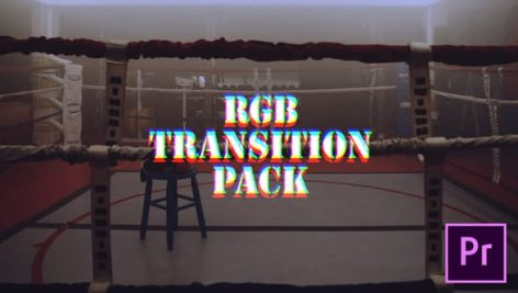 دانلود پکیج ۴۰ ترنزیشن حرفه ای رنگ پریمیر : RGB Transitions Pack