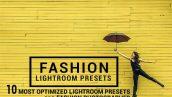 دانلود 10 پریست لایت روم : Graphicriver 10 Fashion Lightroom Presets