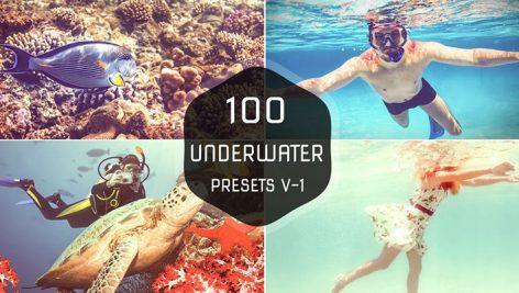 دانلود ۱۰۰ پریست لایت روم حرفه ای : Underwater Lightroom Presets