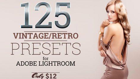 دانلود ۱۲۵ پریست لایت روم حرفه ای : Lightroom Vintage Retro Presets