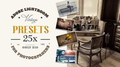 دانلود ۲۵ پریست لایت روم : Lightroom 25 Vintage Retro Presets